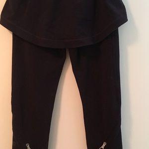 Lululemon Skirted Capri Leggings Black. Zip legs